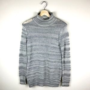 Anthro Moth Two Shadow Sweater Mock Neck Small